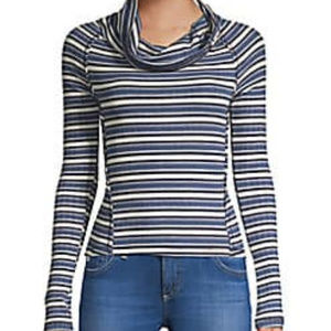 Free People Striped Long Sleeve Top